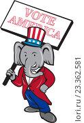 Купить «Республиканской слон, талисман», иллюстрация № 23362581 (c) Aloysius Patrimonio / Фотобанк Лори