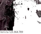 Купить «Осколки темного стекла, фон», иллюстрация № 23364789 (c) Арсений Герасименко / Фотобанк Лори