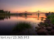 Купить «Тверь. Староволжский мост», эксклюзивное фото № 23365913, снято 2 июля 2016 г. (c) Литвяк Игорь / Фотобанк Лори
