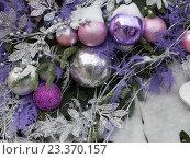 Рождественские украшения на улице. Стоковое фото, фотограф Ekaterina Andreeva / Фотобанк Лори