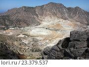 Кратер вулкана острова Нисирос. Стоковое фото, фотограф Дмитрий Наумов / Фотобанк Лори