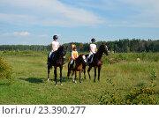 Юные наездницы на занятиях конным спортом (2016 год). Редакционное фото, фотограф Токсаров Владимир Андреевич / Фотобанк Лори