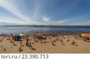 Волжский пляж в Самаре (2016 год). Редакционное фото, фотограф Акиньшин Владимир / Фотобанк Лори