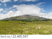 Купить «view to plain and hills at connemara in ireland», фото № 23405597, снято 23 июня 2016 г. (c) Syda Productions / Фотобанк Лори