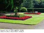 Купить «Красивый дизайн садового оформления», фото № 23407225, снято 9 сентября 2015 г. (c) Татьяна Кахилл / Фотобанк Лори