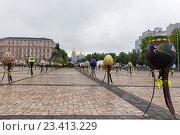 Пасхальные яйца, фестиваль на Софийской площади, Киев, Украина (2016 год). Редакционное фото, фотограф Kateryna Kyselova / Фотобанк Лори