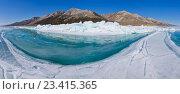 Купить «Панорама. Голубая вода озера Байкал зимой», фото № 23415365, снято 24 марта 2014 г. (c) Zakirov Aleksey / Фотобанк Лори