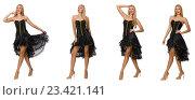 Купить «Composite photo of woman in various poses», фото № 23421141, снято 8 сентября 2014 г. (c) Elnur / Фотобанк Лори