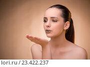 Купить «Woman with nice make-up in beauty concept», фото № 23422237, снято 4 июля 2016 г. (c) Elnur / Фотобанк Лори