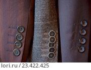Пуговицы на мужском костюме. Стоковое фото, фотограф Elena Molodavkina / Фотобанк Лори