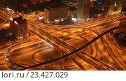Aerial view of complex highway interchange in HongKong (2014 год). Стоковое видео, видеограф Elnur / Фотобанк Лори