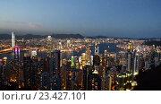 Купить «Вид на Гонконг ночью», видеоролик № 23427101, снято 22 октября 2014 г. (c) Elnur / Фотобанк Лори