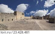 Руины замка Азрак, Центрально-Восточная Иордания, 100 км к востоку от Аммана, Иордания (2016 год). Стоковое видео, видеограф Владимир Журавлев / Фотобанк Лори