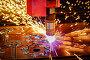CNC Laser plasma cutting of metal, modern industrial technology. ., фото № 23439733, снято 25 мая 2016 г. (c) Андрей Армягов / Фотобанк Лори