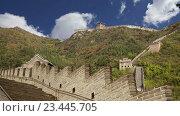 Купить «Вид одного из самых живописных участков Великой китайской стены, к северу от Пекина», видеоролик № 23445705, снято 29 августа 2016 г. (c) Владимир Журавлев / Фотобанк Лори