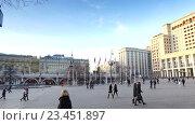 Купить «Four Seasons Hotel in central Moscow, Russia», видеоролик № 23451897, снято 10 марта 2016 г. (c) BestPhotoStudio / Фотобанк Лори
