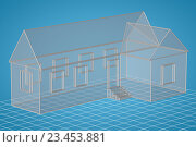 Простой прозрачный дом, 3D иллюстрация. Стоковая иллюстрация, иллюстратор Rashpil / Фотобанк Лори