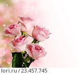 Букет роз на ярком фоне. Стоковое фото, фотограф Лариса К / Фотобанк Лори
