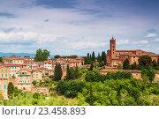 Купить «Вид на Сиену с базиликой Санта Мария дей Серви, также известной под названием Сан Клементо», фото № 23458893, снято 11 мая 2014 г. (c) Наталья Волкова / Фотобанк Лори