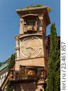Купить «Театр марионеток Резо Габриадзе. Башня с часами.Тбилиси, Грузия», эксклюзивное фото № 23461857, снято 14 июня 2016 г. (c) Gagara / Фотобанк Лори