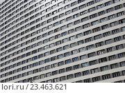 Высотное жилое здание на улице Гризодубовой, дом 2 в Москве, фрагмент (2016 год). Стоковое фото, фотограф Ольга Летто / Фотобанк Лори