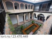 Courtyard of home of Hernan Lopez el Feri . Granada (2016 год). Стоковое фото, фотограф Яков Филимонов / Фотобанк Лори