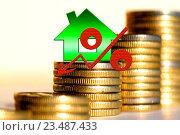 Купить «Красный знак процента на фоне денег», иллюстрация № 23487433 (c) Сергеев Валерий / Фотобанк Лори