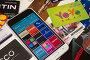 Приложение с дисконтными и бонусными картами на смартфоне, фото № 23494925, снято 29 июня 2016 г. (c) Юля Ухина / Фотобанк Лори