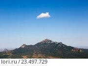 Купить «Вид на гору Бештау с горы Машук (Пятигорск)», фото № 23497729, снято 7 сентября 2016 г. (c) Валерий Шилов / Фотобанк Лори