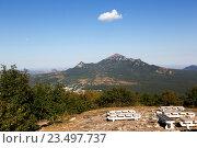 Купить «Гора Бештау (Пятигорск)», фото № 23497737, снято 7 сентября 2016 г. (c) Валерий Шилов / Фотобанк Лори