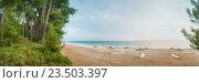 Купить «Пляж в Пицунде - Абхазия», фото № 23503397, снято 25 августа 2016 г. (c) Игорь Струков / Фотобанк Лори