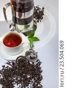 Купить «Чайные аксессуары», фото № 23504069, снято 9 апреля 2012 г. (c) Олег Жуков / Фотобанк Лори