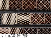 Купить «close up of red brick wall background», фото № 23504789, снято 27 июня 2016 г. (c) Syda Productions / Фотобанк Лори