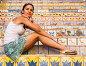 Красивая девушка на лестнице украшенной керамической плиткой. Сицилия. Италия, фото № 23511009, снято 11 августа 2010 г. (c) Николай Коржов / Фотобанк Лори