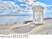 Купить «Саратов. Ротонда на берегу», фото № 23513773, снято 9 сентября 2016 г. (c) Parmenov Pavel / Фотобанк Лори