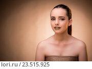 Купить «Woman with beautiful make-up against background», фото № 23515925, снято 4 июля 2016 г. (c) Elnur / Фотобанк Лори