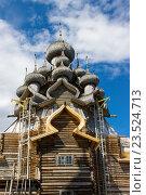 Церковь Преображения Господня, остров Кижи, Карелия. Стоковое фото, фотограф Александр Замоткин / Фотобанк Лори