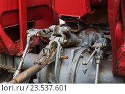 Купить «close up of vintage car hoist mechanism», фото № 23537601, снято 27 июня 2016 г. (c) Syda Productions / Фотобанк Лори