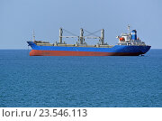 Купить «Грузовое судно - балкер Turkan Saylan (порт приписки Валлетта, флаг - Мальта) на рейде», эксклюзивное фото № 23546113, снято 11 сентября 2016 г. (c) Александр Замараев / Фотобанк Лори