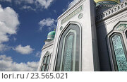 Купить «Московская соборная мечеть. Главная мечеть в Москвы», видеоролик № 23565021, снято 12 сентября 2016 г. (c) Владимир Журавлев / Фотобанк Лори