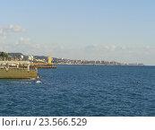 Купить «Морское побережье Сочи, причалы», фото № 23566529, снято 17 сентября 2016 г. (c) DiS / Фотобанк Лори