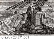 Купить «Christopher Columbus brought back to Spain in chains.», иллюстрация № 23571501 (c) age Fotostock / Фотобанк Лори