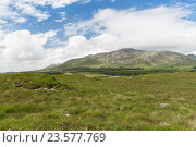 Купить «view to plain and hills at connemara in ireland», фото № 23577769, снято 23 июня 2016 г. (c) Syda Productions / Фотобанк Лори