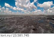 Купить «Соленое озеро Баскунчак», фото № 23581745, снято 9 июля 2016 г. (c) Игорь Р / Фотобанк Лори