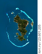 Купить «Satellite view of Mayotte. This image was compiled from data acquired by Landsat satellites.», фото № 23601205, снято 22 июля 2019 г. (c) age Fotostock / Фотобанк Лори