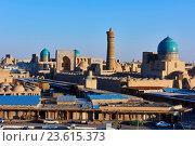 Купить «Uzbekistan, Bukhara, Unesco world heritage, Kalon mosque and minaret, Madrasah Mir I Arab.», фото № 23615373, снято 23 декабря 2015 г. (c) age Fotostock / Фотобанк Лори