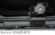 Купить «Internal print mechanism of 3D printer», видеоролик № 23625813, снято 22 сентября 2016 г. (c) Данил Руденко / Фотобанк Лори