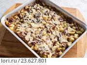 Купить «casserole with mince and courgettes», фото № 23627801, снято 1 августа 2016 г. (c) Володина Ольга / Фотобанк Лори