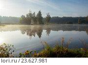 Купить «Солнечный осенний пейзаж», фото № 23627981, снято 25 сентября 2016 г. (c) Валерий Боярский / Фотобанк Лори