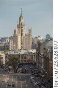 Купить «Вид со смотровой площадки на исторический центр Москвы», фото № 23628077, снято 1 мая 2016 г. (c) Олег Жуков / Фотобанк Лори
